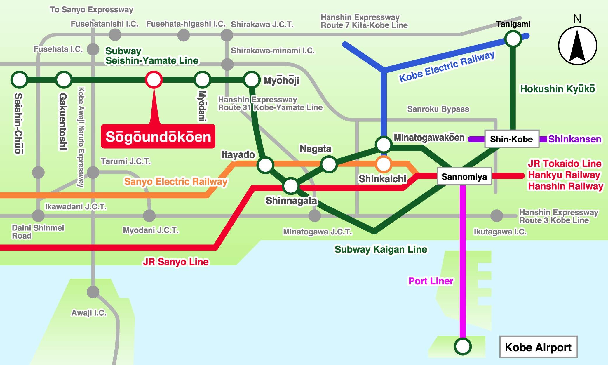 Traffic access map (train)