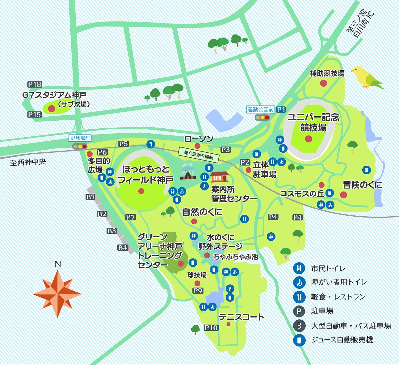 Kobe Sports Park map